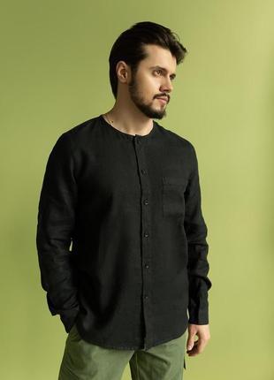 Рубашка мужская лен 100%