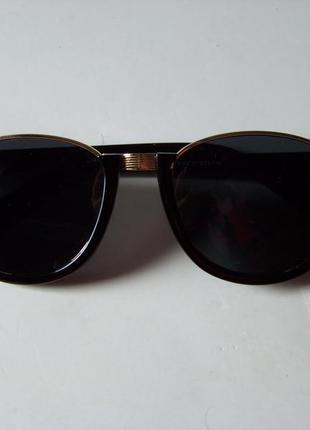 Полуободковые очки антиблик с черной оправой и черной дымчатой линзой италия4 фото