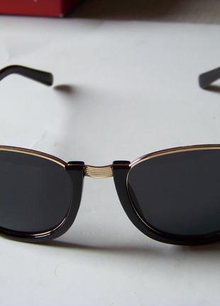 Полуободковые очки антиблик с черной оправой и черной дымчатой линзой италия3 фото