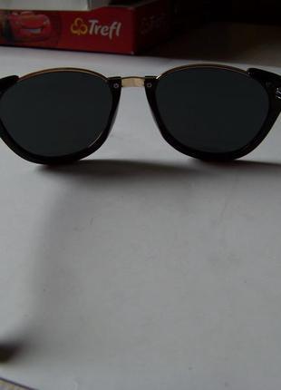 Полуободковые очки антиблик с черной оправой и черной дымчатой линзой италия5 фото