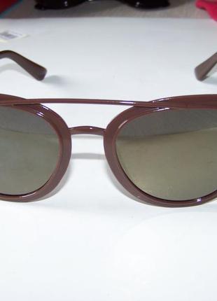 Распродажа солнцезащитные коричневые очки с зеркальной линзой и покрытием антирефлекс3 фото