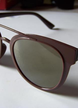Распродажа солнцезащитные коричневые очки с зеркальной линзой и покрытием антирефлекс