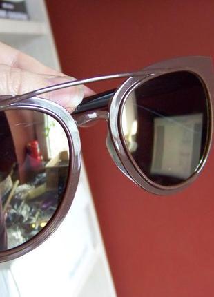 Распродажа солнцезащитные коричневые очки с зеркальной линзой и покрытием антирефлекс2 фото