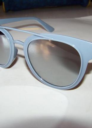 Распродажа солнцезащитные серые очки с серебряным зеркалом и покрытием антирефлекс