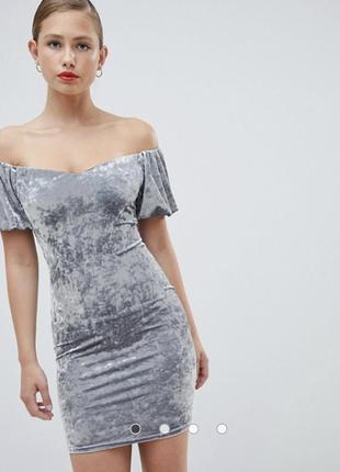 Платье велюровое бархатное new look