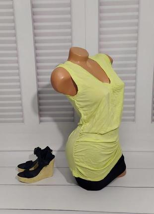 Майка, футболка, туника желтая, s/m