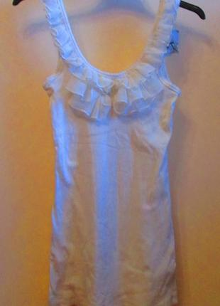 Воздушная красивая белая блуза маечка atmosphere рюшик размер 12