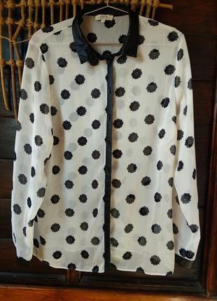 Рубашка с элементами кож.зам(ткань)