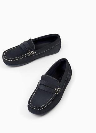 Кожаные туфли макасины зара zara, 30р