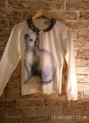 Джемпер, свитер,кофта,реглан, zara с рисунком