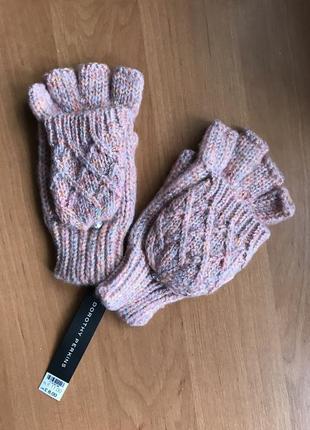Перчатки рукавички «митенки»