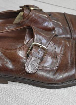 River island мужские туфли кожаные коричневые размер 42 монки made in italy