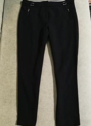 Черные укороченные брюки f&f