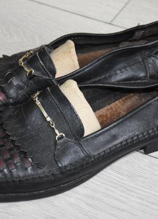 Туфли лоферы 43-44 натуральная кожа