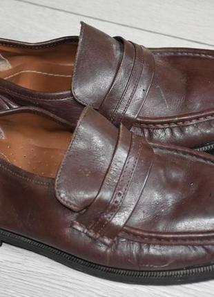 Лоферы мокасины туфли кожаные 43-44