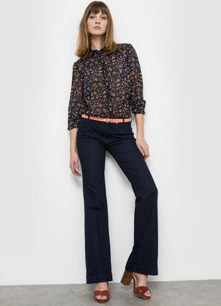 Темно синие расклешенные джинсы размер 30