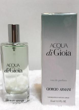Парфюмированная вода giorgio armani acqua di gioia 15мл