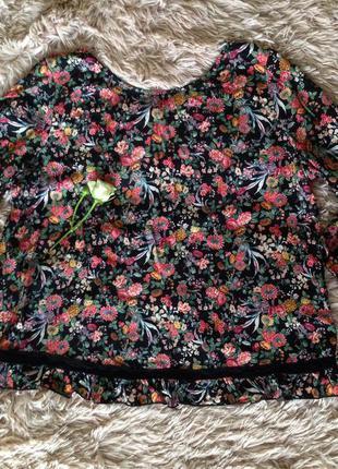 Укорочённая блуза с красивой спинкой