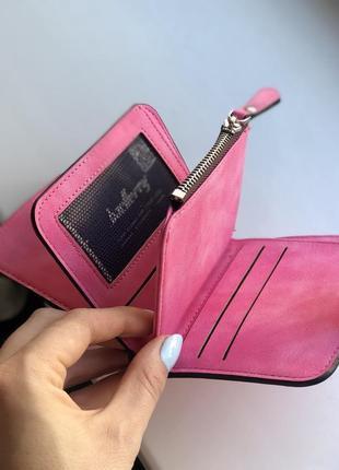 Кошелек женский baellerry forever mini dark pink3 фото