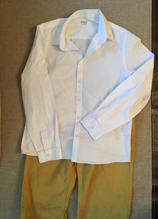 Рубашка на мальчика, m&s, р. 158