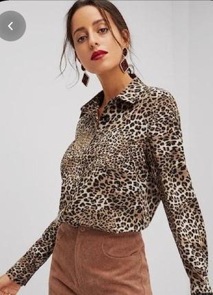 Шыкарная леопардовая рубашка.,в тигровый принт.