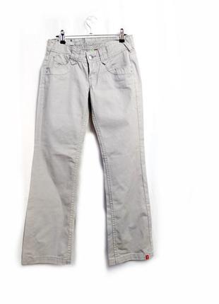 Серые джинсы ровный крой р 28\м летние