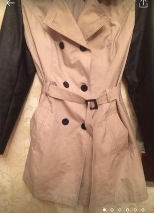 Крутая модная куртка -плащ демисезонный