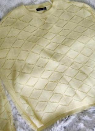 Нежный лимонный свитер оверсайз