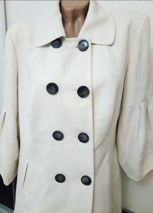 Белое легкое пальто плащ next