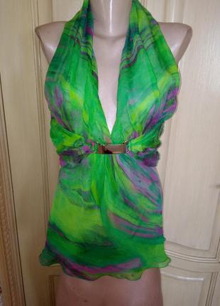 Шикарная блузка , топ удлинённый люкс класса