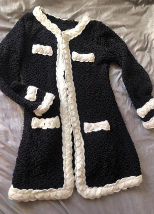 Кофта уделённое пальто