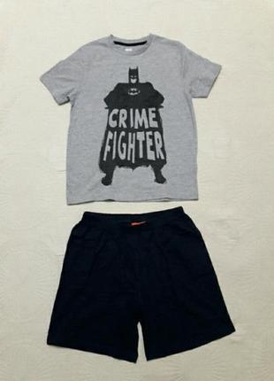 Піжама дитяча batman (німеччина) ріст футболки 134-140 см.  шорти 146-152 см.