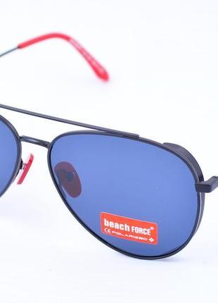 Стильные солнцезащитные очки капля авиатор beach force polarized с боковой шорой окуляри