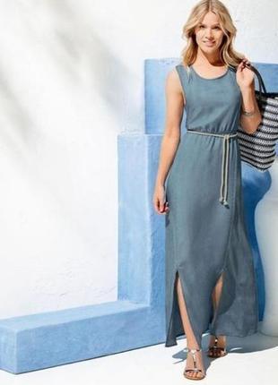 Красивое длинное платье, сарафан из тонкого джинсах esmara