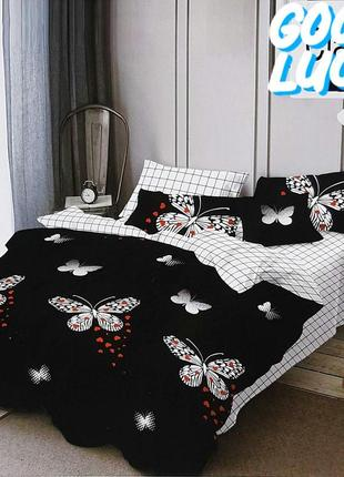Комплекты постельного белья турция хлопок полуторки, двуспальные и евро с 4 наволочками