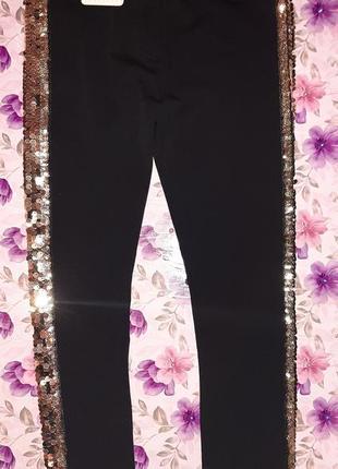 Черные штаны-лосины на девочку турция фирма civelek