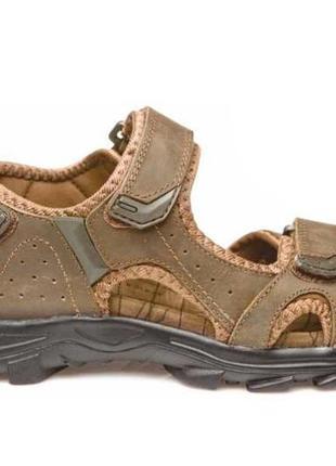 Босоножки сандалии мужские кожаные спортивные на липучках restime р. 36-49 2 цвета
