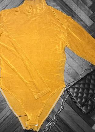 Боди желтый