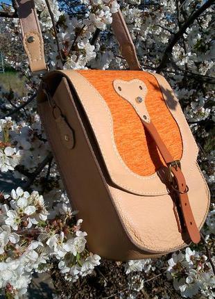 Шкіряна жіноча торбинка