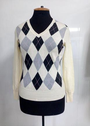 Пуловер ,джемпер с v- образным вырезом