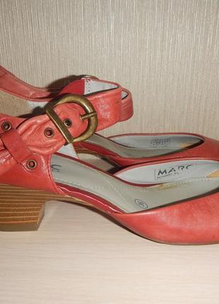 Кожаные туфли marc р.36(23см)