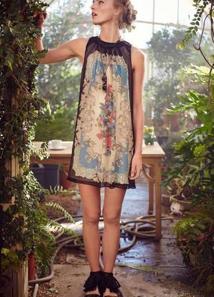 Шикарное шёлковое платье, 100% шелк  anthropologie moulinette soeurs