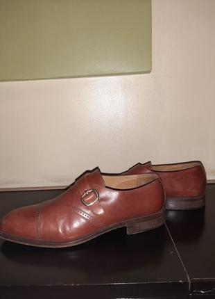 Туфли мужские с пряжкой кожаные кожа
