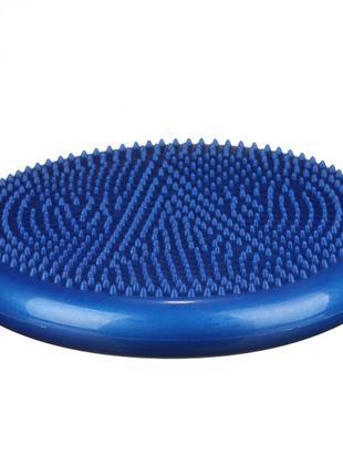 Балансировочная массажная подушка-платформа profi 33см. (диск равновесия) blue
