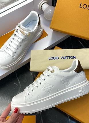 Louis vuitton шикарные женские кроссовки из натуральной кожи луи витон (36-40)