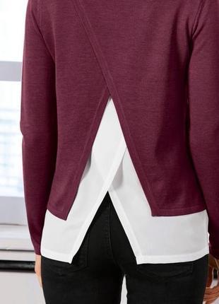 Джемпер, пуловер марсала xl, xxl (с 54 по 60) esmara, германия, обманка