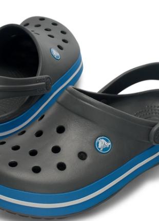 Сабо crocs crocband charcoal/ocean