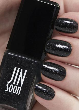 Черный лак для ногтей с шиммером jinsoon  obsidian  оригинал из сша