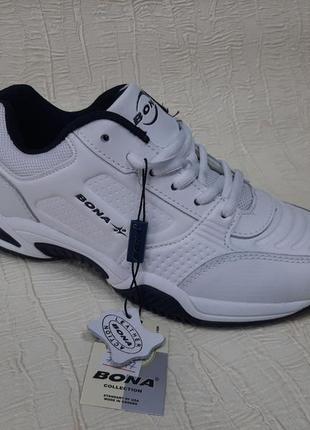Белые кожаные  женские кроссовки bona(36-41)