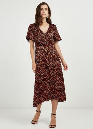 Платье миди с цветочным принтом mango -  m